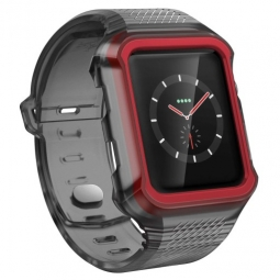 X-DORIA RUMBLE BAND APPLE WATCH 1/2/3 (42MM) BLACK/RED