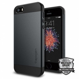SPIGEN SGP SLIM ARMOR IPHONE 5S/SE METAL SLATE