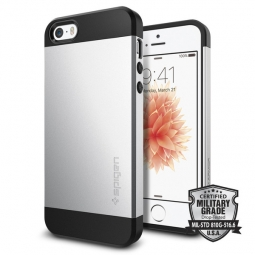 SPIGEN SGP SLIM ARMOR IPHONE 5S/SE SATIN SILVER