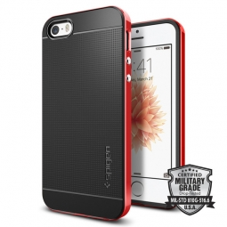 SPIGEN SGP NEO HYBRID CARBON IPHONE 5S/SE DANTE RED