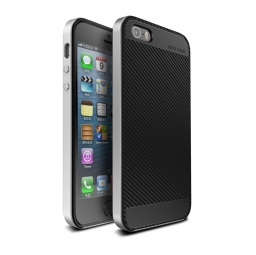 UCASE CARBON FRAME IPHONE 5S/SE SILVER