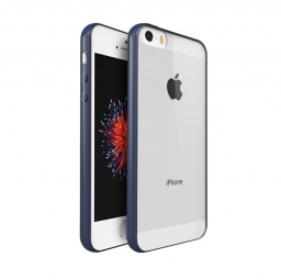 UCASE CLEAR HYBRID 0.8MM IPHONE 5S/SE NAVY BLUE