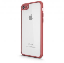 UCASE CLEAR HYBRID 0.8MM IPHONE 7/8 RED
