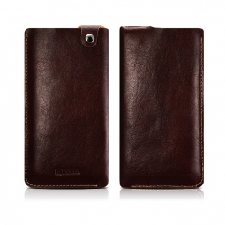 ICARER LEATHER POUCH IPHONE 7/8 PLUS BROWN