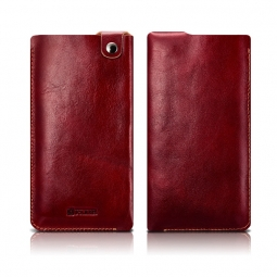 ICARER LEATHER POUCH IPHONE 7/8 PLUS RED