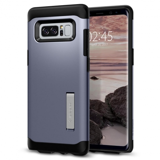 ETUI SPIGEN SLIM ARMOR GALAXY NOTE 8 ORCHID GRAY