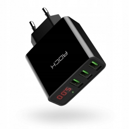 ROCK T14 LED 3-PORT NETWORK CHARGER BLACK