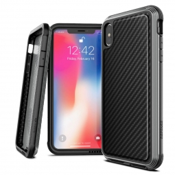 X-DORIA DEFENSE LUX IPHONE X/XS BLACK CARBON