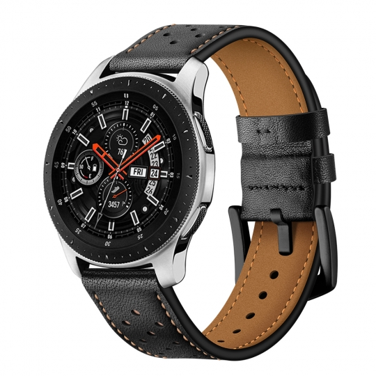 TECH-PROTECT LEATHER SAMSUNG GALAXY WATCH 42MM BLACK