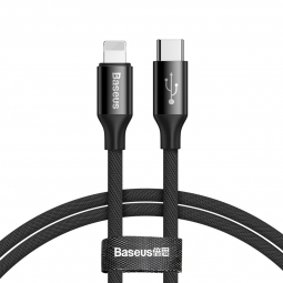 BASEUS YIVEN TYPE-C TO LIGHTNING CABLE 100CM BLACK