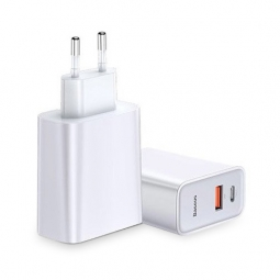 BASEUS SPEED PPS QC3.0 + USB-C NETWORK CHARGER WHITE