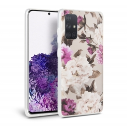 TECH-PROTECT FLORAL GALAXY A51 BEIGE