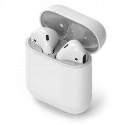 RINGKE DUST GUARD STICKER APPLE AIRPODS SILVER