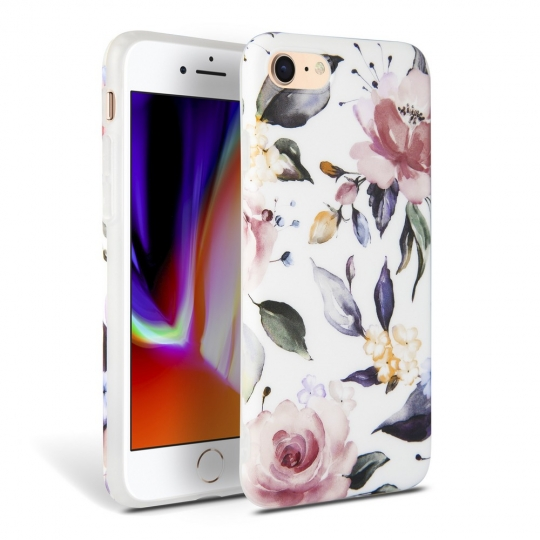 TECH-PROTECT FLORAL IPHONE 7/8/SE 2020 WHITE