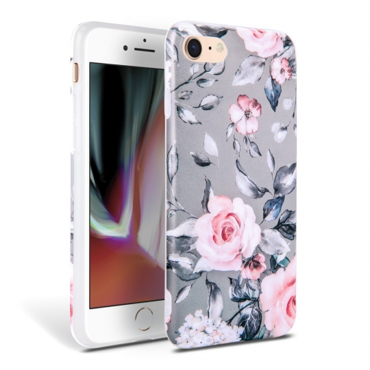 TECH-PROTECT FLORAL IPHONE 7/8/SE 2020 GREY