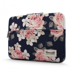 CANVASLIFE SLEEVE LAPTOP 15-16 NAVY ROSE