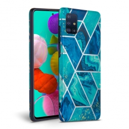 TECH-PROTECT MARBLE GALAXY A41 BLUE