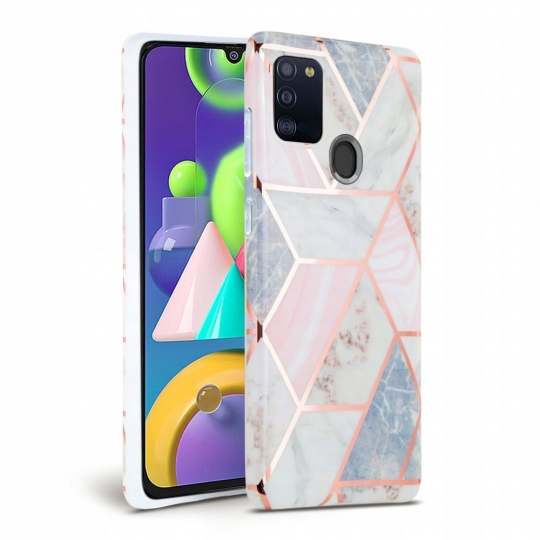 TECH-PROTECT MARBLE GALAXY A21S PINK