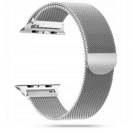 TECH-PROTECT MILANESEBAND APPLE WATCH 2/3/4/5/6/SE (42/44MM) SILVER