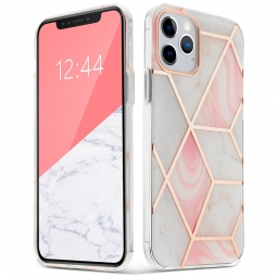 "TECH-PROTECT MARBLE ""2"" IPHONE 12/12 PRO PINK"