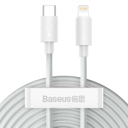 BASEUS WISDOM 2-PACK TYPE-C TO LIGHTNING CABLE PD20W/2.4A 150CM WHITE