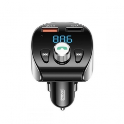 JOYROOM JR-CL02 2-PORT CAR CHARGER + TRANSMITER FM BLACK