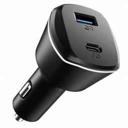 SPIGEN PC1800 POWERARC 2-PORT CAR CHARGER PD30W/QC.3.0 BLACK