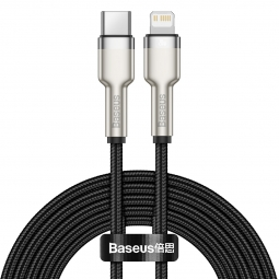 BASEUS CAFULE METAL LIGHTNING CABLE PD20W 200CM BLACK