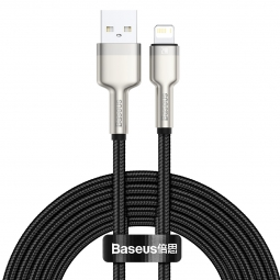 BASEUS CAFULE METAL LIGHTNING CABLE 2.4A 200CM BLACK