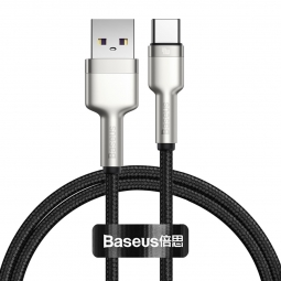 BASEUS CAFULE METAL TYPE-C CABLE PD40W/5A 100CM BLACK