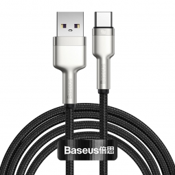 BASEUS CAFULE METAL TYPE-C CABLE PD40W/5A 200CM BLACK