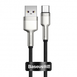 BASEUS CAFULE METAL TYPE-C CABLE PD40W/5A 25CM BLACK
