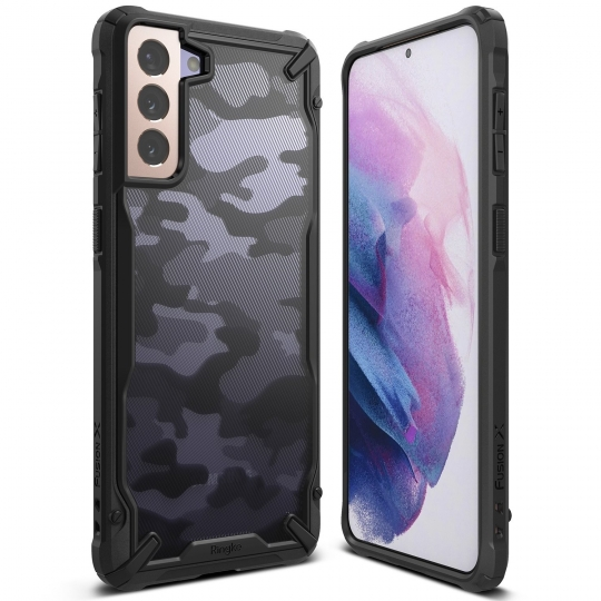 RINGKE FUSION X GALAXY S21+ PLUS CAMO BLACK