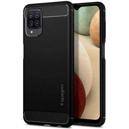 SPIGEN RUGGED ARMOR GALAXY A12 MATTE BLACK