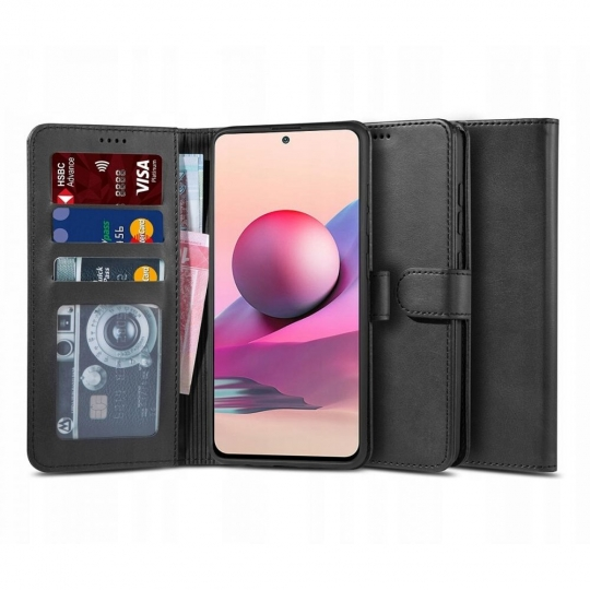 "TECH-PROTECT WALLET ""2"" XIAOMI REDMI NOTE 10/10S BLACK"