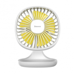 WIATRAK BIURKOWY BASEUS PUDDING SHAPED FAN WHITE