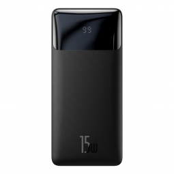 BASEUS BIPOW 15W DIGITAL DISPLAY POWER BANK 10000MAH BLACK