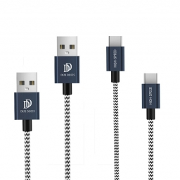 DUXDUCIS 2-PACK TYPE-C CABLE 100CM + 20CM NAVY